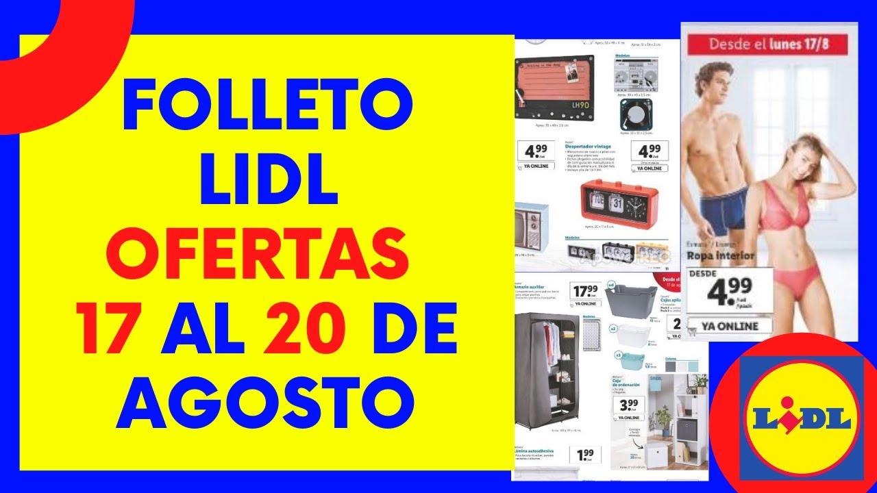 👉LIDL Folleto OFERTAS de esta semana [ HOGAR Y ROPA INTERIOR ] Catálogo 17 - 20 Agosto 2020 | España