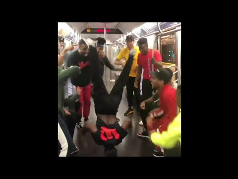 Don Action Jackson - Watch this Amazing Dance Crew Totally Cut It Up on a NY Subway