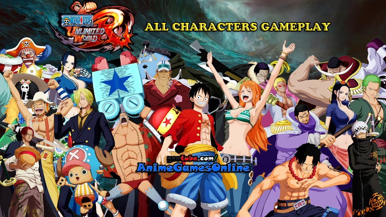 One Piece Unlimited World Red All Characters Gameplay (HD ...