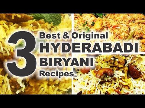 3 Best Hyderabadi Biryani Recipes For Eid - Original & Authentic - Ramadan Special/English Subtitles