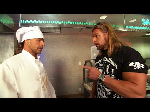 Triple H finds Shawn Michaels working in a cafeteria: Raw, Aug 10, 2009