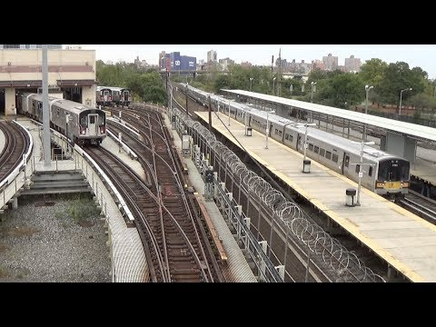 LIRR / NYC Subway 7 Line - Mets, Willets Point - Express Trains and Yard Action