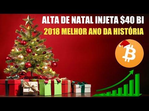 Rally de Natal injeta $40 Bi no Mercado Crypto! 2018 melhor ano da histo�ria