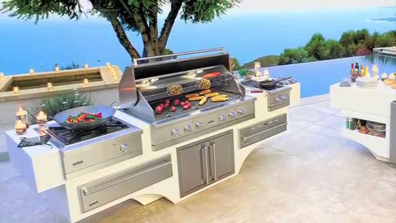 viking outdoor kitchen country decorating ideas grill barbecue youtube