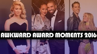 10 Most AWKWARD Award Show Moments of 2016