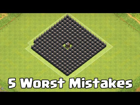 Top 5 Base Building Mistakes In Clash of Clans