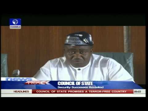 Jonathan Presides Over Last Council Of State Meeting 13/05/15