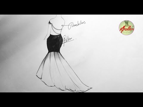 How To Draw A Fancy Dress Drawing Step By Step Fashion Design 2018 S Pollen Youtube