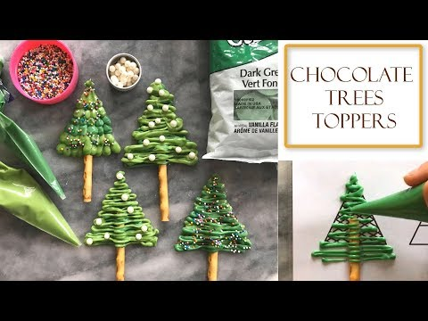 How to Make Chocolate Christmas Tree Decorations | Simple & Easy