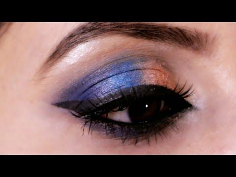 easy and quick blue eye makeup tutorial iistepstep eye