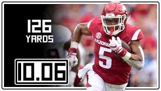 Rakeem Boyd Full Highlights Arkansas vs Alabama || 10.06.18 || 126 Total Yards