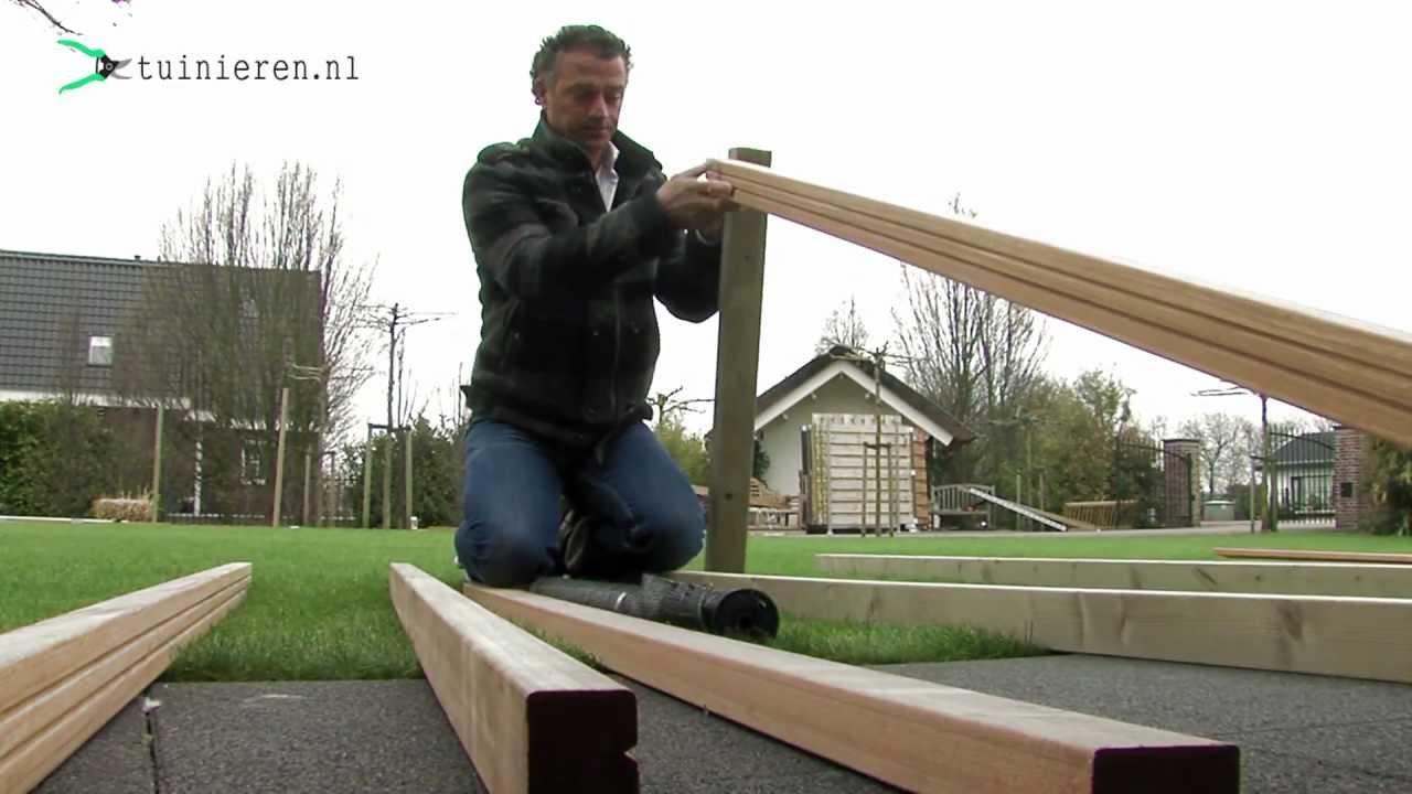 Vlonder aanleggen voorbereiding youtube - Een terras aan het plannen ...