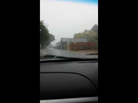 Crazy rain storm in Geelong