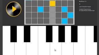 Creative Programming for Digital Media & Mobile Apps - BeatPiano