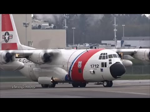 United States Coast Guard C-130 Departs on Rare Visit From KPAE Paine Field