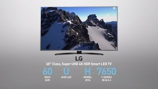 LG  60UH7650 Super UHD 4K HDR Smart LED TV - 60