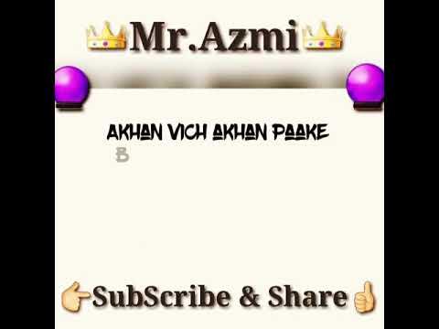 Baby Tere Gore Gore Cheeks Ummmhhaaaa😘 (Lyrics by Azmi) WhatsApp Video