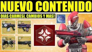 Destiny 2 - Futuro Contenido: Crimson Days, Cambios de Año Nuevo, Más Modos de Juego, Más Masterwork