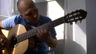 Уроки гитары.В.Цой-Это не любовь.Вступление.Соло