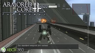Armored Core: For Answer - Xbox 360 / Ps3 Gameplay (2008)