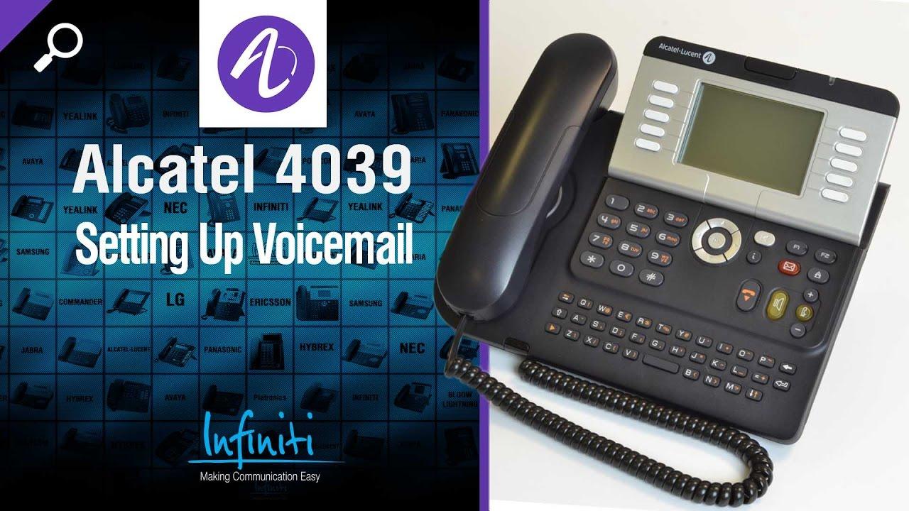 Alcatel 4039 Phone Handset + 4029 Handset -- Setting Up Voicemail [Infiniti  Telecommunications]