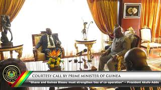 Courtesy Call by the Prime Minister of Guinea