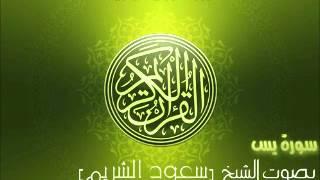 سورة يس بصوت الشيخ سعود الشريم | YaSin Saud Al-Shuraim