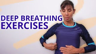 Physiotherapy breathing exercises for better lung capacity with deep breathing. michelle from https://www.pelvicexercises.com.au shows you exe...