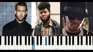 Calvin Harris ft Future, Khalid - Rollin (Piano Tutorial Instrumental )