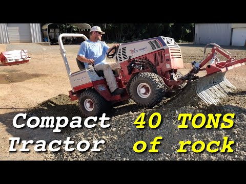 Gravel Parking Lot Upgrade  - Ventrac Compact Tractor