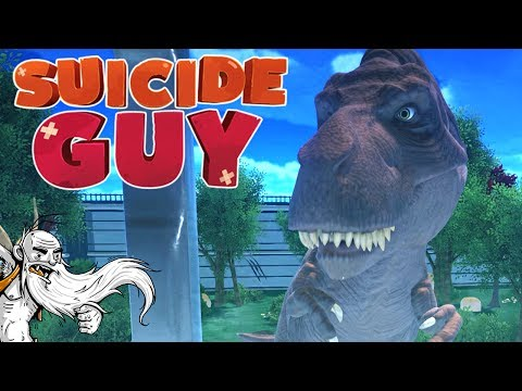 "Suicide Guy Gameplay - ""DEATH BY...DINOSAUR?!?""  - Let's Play Walkthrough"