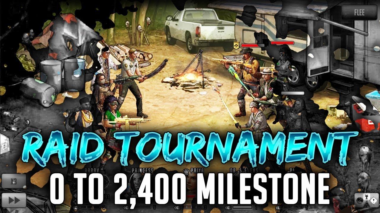 TWD RTS: Raiding 0-to-2,400 Milestones x2! TWD RTS Stream - The Walking Dead: Road to Survival