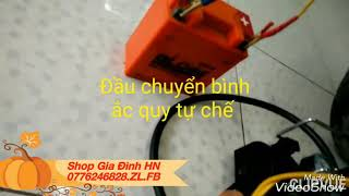 Bơm lốp, bơm hơi điện ô tô xe máy mini 12V Heavy Duty Air Compressor 120W bảo hàn