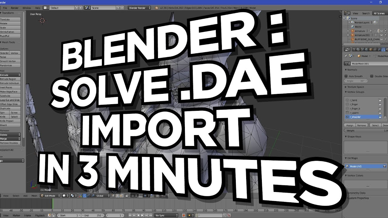 Solve the Blender 3D Import DAE Silent Failure in 3 minutes