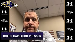 John Harbaugh Video Chats With Reporters | Baltimore Ravens