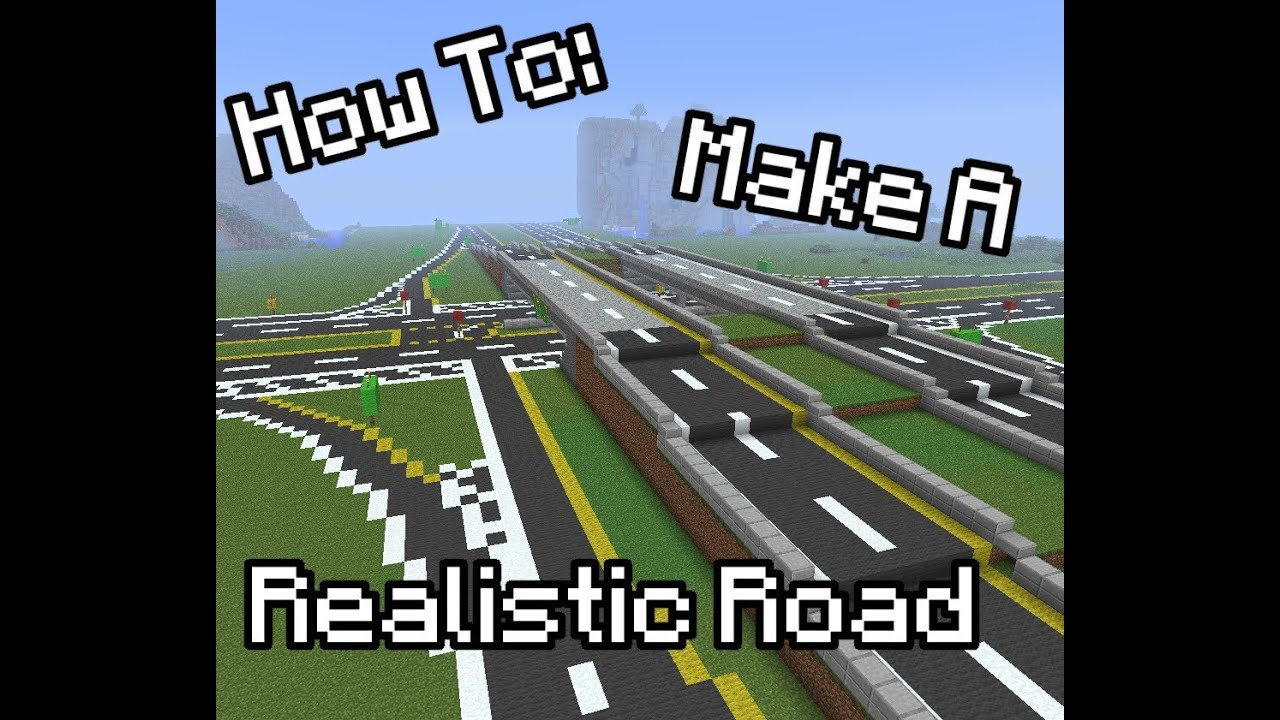 Minecraft How To Make A Realistic Road YouTube