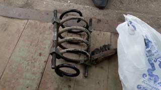 Замена передних стоек (амортизаторов) ВАЗ КАЛИНА