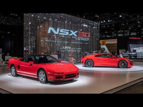 1990 And 2020 Acura Honda Nsx S Together Celebrating The 30th