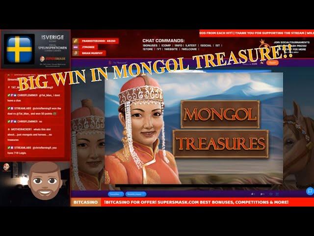 Mongol Treasure hit BIG in Bonus Game!! Saved!!