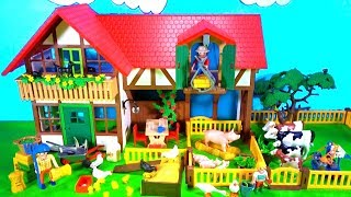 Playmobil Farm Animals Playset Build and Play Learn Colors Fun Toys for Kids