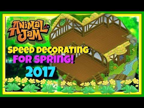 Animal Jam: Speed Decorating For Spring 2017!