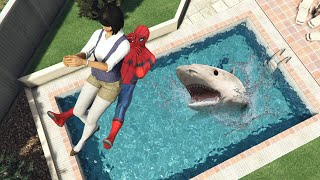 GTA 5 Water Ragdolls SPIDERMAN Jumps Fails Ep 55 Flooded Los Santos