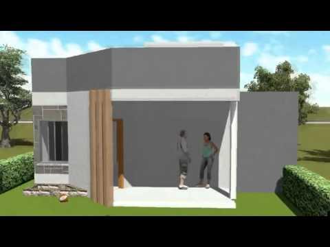 Dise o de casa de 2 niveles en terreno 10x20 m doovi for Casa moderna minimalista interior 6m x 12 50 m