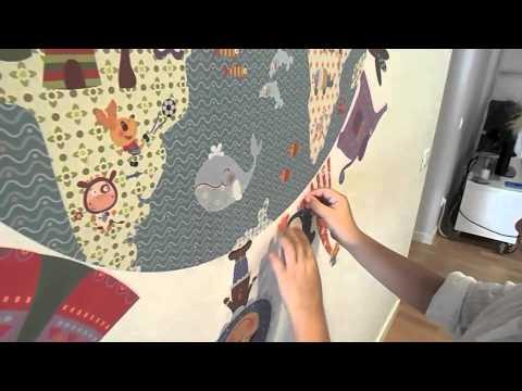 Vinilos Infantiles Decohappy.Vinilos Infantiles De Tela Removibles Instalacion Con Hugo By Decohappy