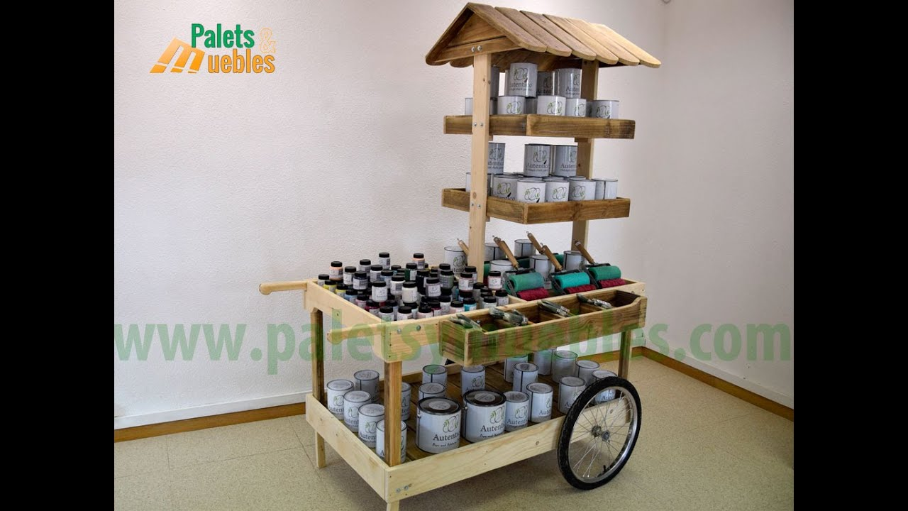 Mesa Desmontable Palets Y Muebles Carrito Para Eventos Quotdesmontable Quot Youtube