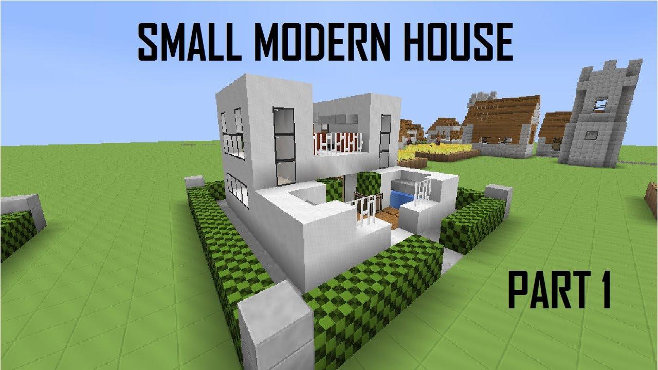 Lets build minecraft modern 10x10 house part 1 youtube for Lets build modern house 7