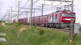 【130km/h? 常磐線 高速貨物】 EH500牽引 高速貨物B 2094列車 小名浜発~越谷ターミナル