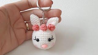 Amigurumi Süslü Tavşan Anahtarlık Yapımı (Baştan Sona Anlatım)