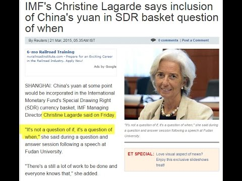 IMF News Christine Lagarde Chinese Yuan SDR Inclusion