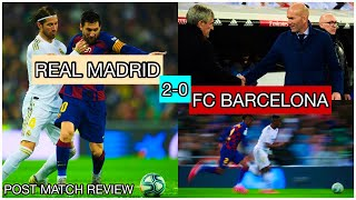 Barcelona loses to real madrid 2-0 | what is wrong with fc ? post match review